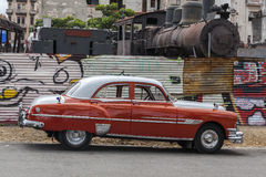 Old American car in Havana, Cuba Royalty Free Stock Photos