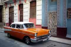 Old car  in Havana, Cuba Royalty Free Stock Photography