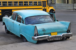 Old car in havana street Royalty Free Stock Images