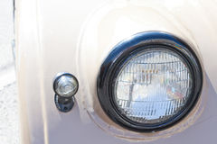 Old car headlight. Retro style. Stock Images