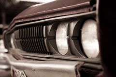 Old car headlights Stock Image