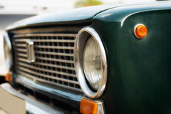 Old car headlights Stock Images