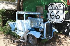 Old car in historic route 66