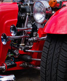 Old car horn and headlights Stock Images