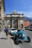 Old car on Innsbruck streets Stock Photo