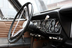 Old Car interior. A very old Car interior royalty free stock images