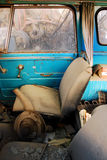 Old Car interior Royalty Free Stock Images