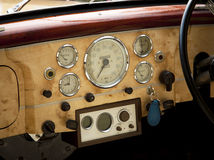 Old car interior Stock Photo