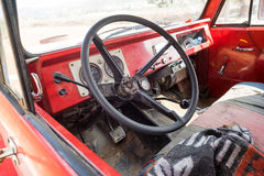 Old Car interior. Broken Car interior,a abandoned car in the open Stock Photography