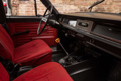 Old car interior. Royalty Free Stock Photography