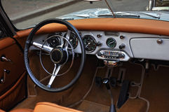 Old car interior Stock Images