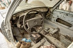 Old car interior Stock Photography