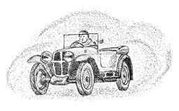 Old car - isolated on background Royalty Free Stock Photo