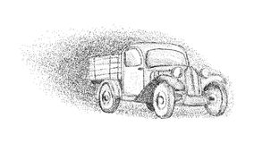 Old car - isolated on background Royalty Free Stock Photos