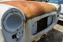 The old car junk yard. Interior Royalty Free Stock Photography