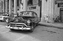 Old car in La Habana. An old car parked in a street of La Habana, Cuba stock images