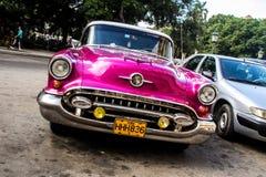 Old car in la havana street Stock Photography