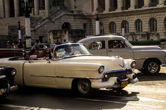 Old car in la havana street Stock Photos