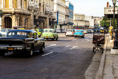 Old car in la havana street Royalty Free Stock Images