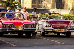 Old car in la havana street Royalty Free Stock Image