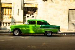Old car in la havana street Stock Photo