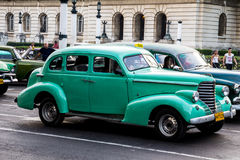 Old car in la havana street Royalty Free Stock Images