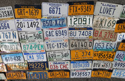 Old car license plates Stock Images