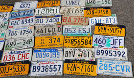 Old car license plates Royalty Free Stock Photography