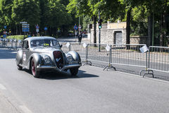 Old car in the Mille Miglia race Royalty Free Stock Photos