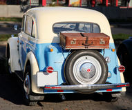 Old car Moskvich. At the back Stock Photo