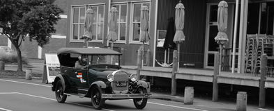 Old car in Napier. Old vintage car in Napier Hawkes bay Stock Photo
