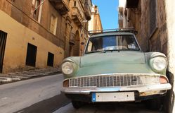 Old car in old town. Some old car caught on one of old Maltese street Royalty Free Stock Photos