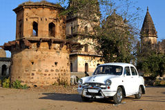 Old car at Orchha Stock Photos