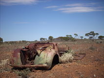 Old car in the outback Royalty Free Stock Image