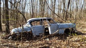 Old car. Outdoor scenes in nature Royalty Free Stock Photography