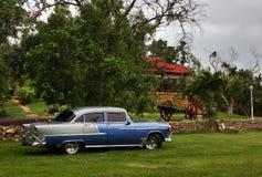 Old car in park of Varadero Stock Photo