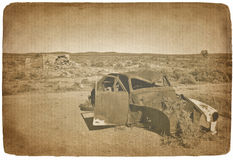 Old car photograph Royalty Free Stock Photos