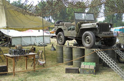 Old military Jeep Willys Royalty Free Stock Photo