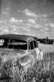 Old Car on the Prairies Royalty Free Stock Photography