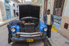 Old American car in Havana, Cuba Stock Images