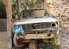 Old car rotting Stock Image