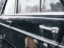 Old car with Rust door Details Royalty Free Stock Photo