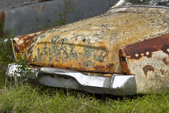 Old car rusting away Stock Photo