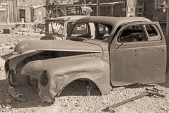 Old car's last parking place Royalty Free Stock Photo