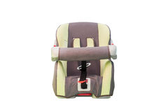 Old car seat. Isolated with clipping path Royalty Free Stock Photo