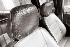 Old car seat Royalty Free Stock Photos