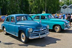 Old car show on Retrofest. GAZ M-20 Pobeda Stock Images