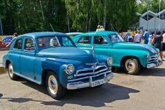 Old car show on Retrofest. GAZ M-20 Pobeda. July 21, 2012 - Moscow, park Sokolniki - Festival Retrofest. Retro car show Stock Images