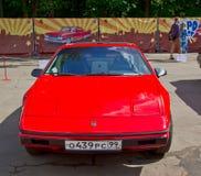 Old car show on Retrofest. Pontiac Fiero. July 21, 2012 - Moscow, park Sokolniki - Festival Retrofest. Retro car show Royalty Free Stock Image