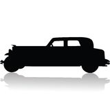 Old car silhouette Royalty Free Stock Image